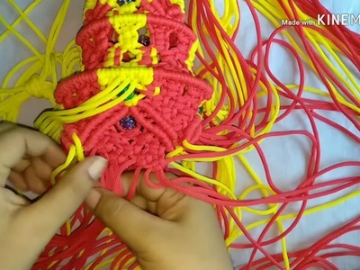 How to make macrame jhumar, wall hanging diy (part-2) full HD video.