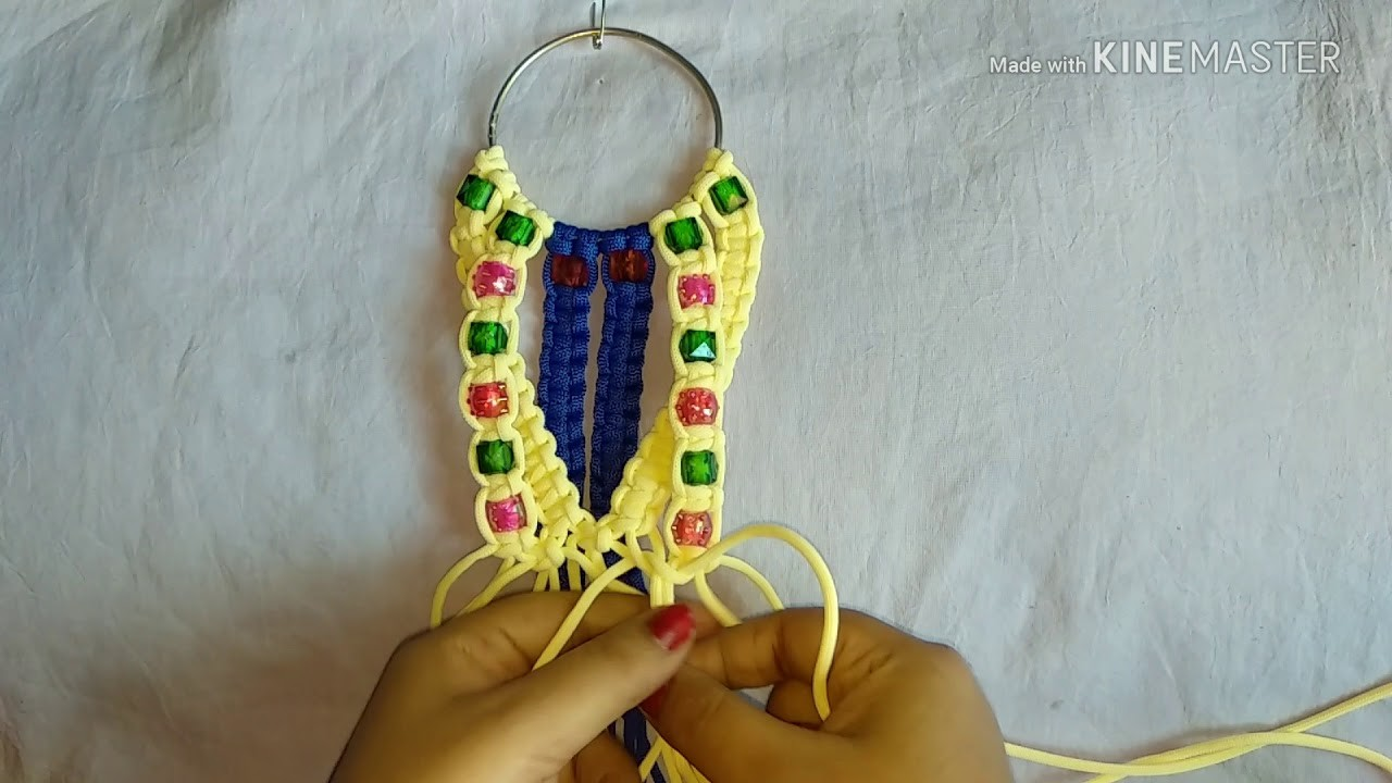 How to make macrame phone holder diy easy and simple design.