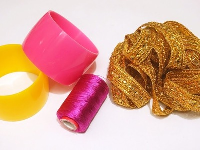 How To Make Silk Thread Bangles At Home | DIY | Latest Silk Thread Bangles making | uppunutihome