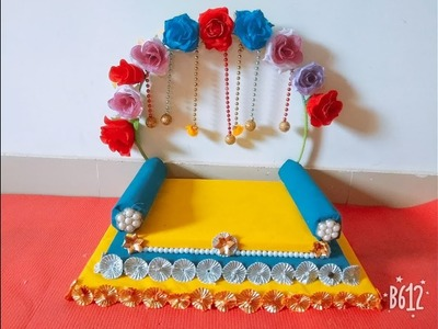 Make Singhasan for your Loving Kanha Ji by yourself - DIY