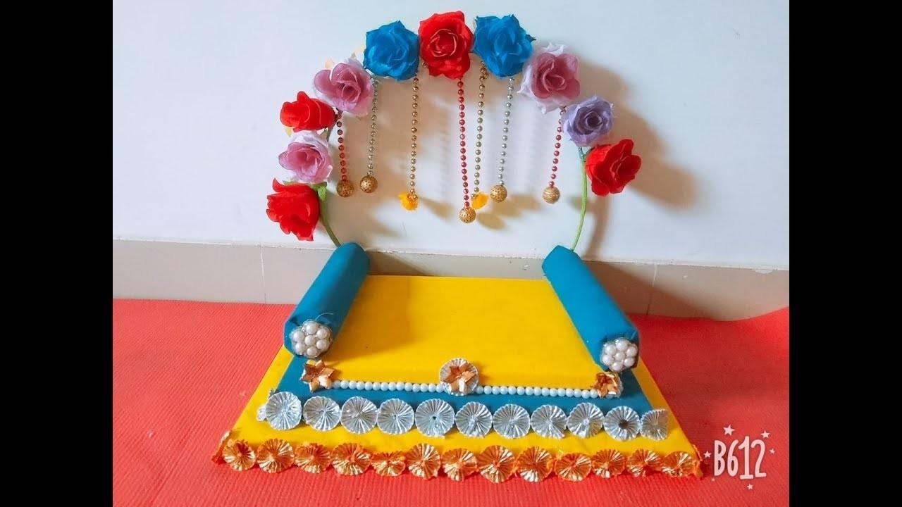 Make Singhasan for your Loving Kanha Ji by yourself - DIY
