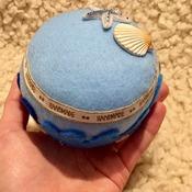 Marine Star and Shell blue ocean theme pincushion GIFT