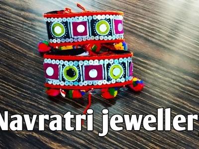 Navratri,DIY bajuband|navratri jewellery,pompom Jewellery,|Armlet| Vanki|how to make bajubad, Bangel