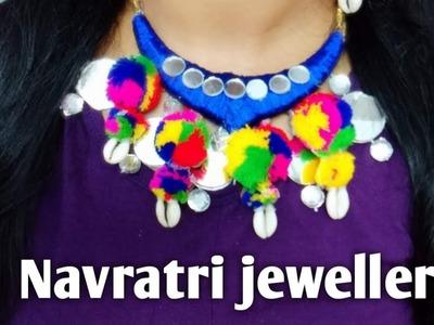 Navratri Jewellery | garba necklace | DIY rope Jewellery | DIY statement necklace| pompom Jeweller |