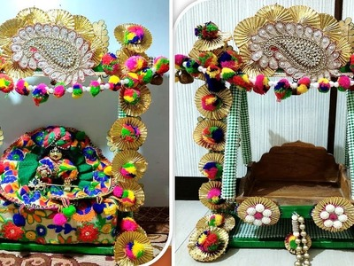 Part 2 - Wooden Jhula Decoration in Traditional Style - DIY - Easy Step by Step