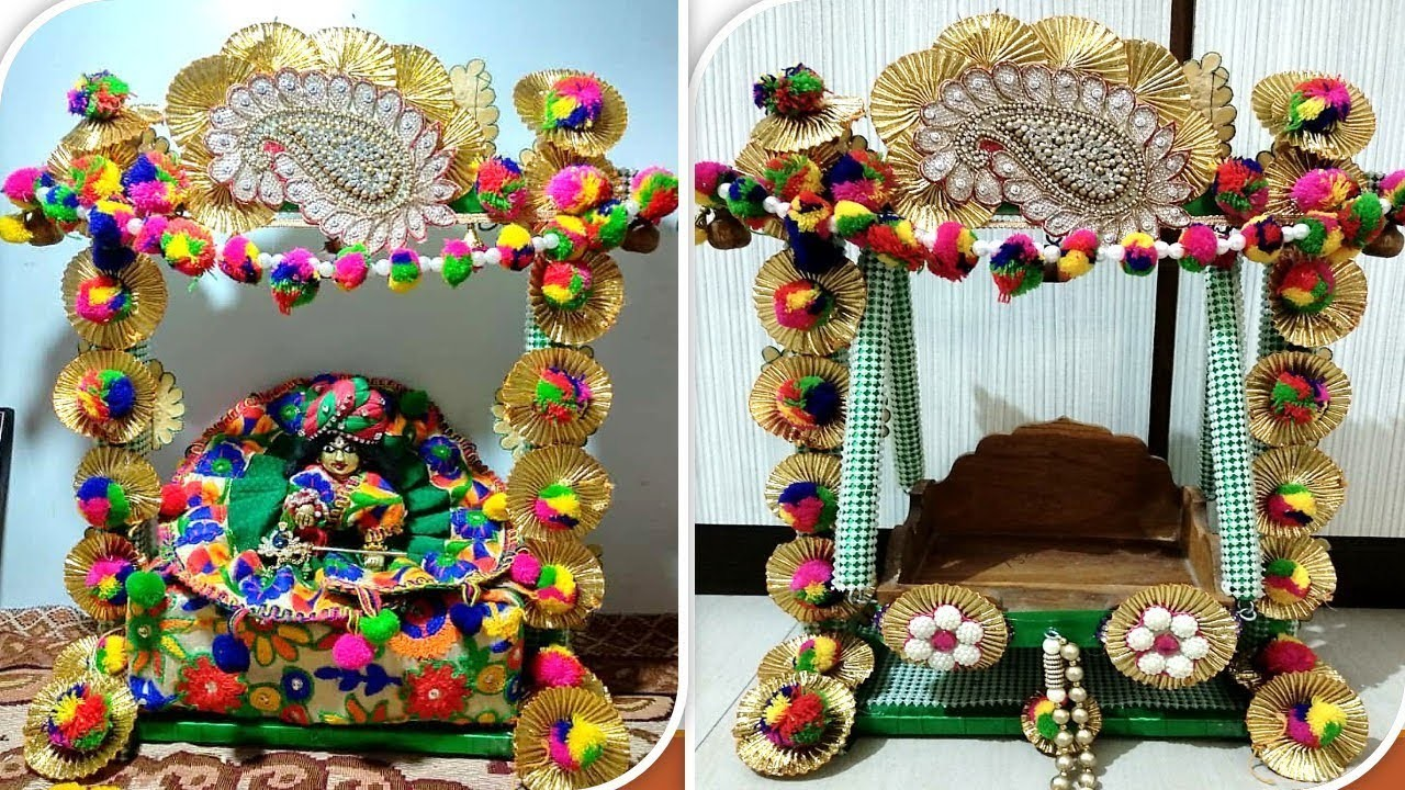 Part 2 Wooden Jhula Decoration In Traditional Style Diy Easy