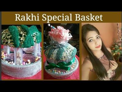 Raksha Bandhan Special. DIY Rakhi Basket Decoration Idea#dIY#Basket#Ideas#presentation#homeidea#