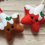 Sugar / Chocolate Dipped Christmas Cookies Star Cookies