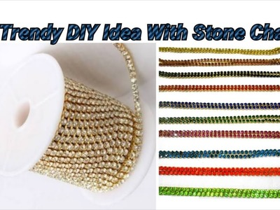 Trendy DIY Idea making with stone chain