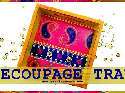 Decoupage for beginners ♡ decoupage tray tutorial ♡ DECOUPAGE IDEAS ♡ EASY DIY DECOUPAGE technique
