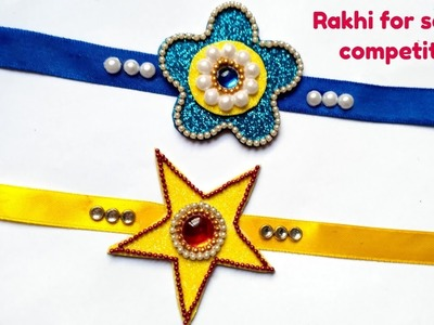 DIY 2 Super Easy Rakhi Making for kids school competition.DIY Rakhi