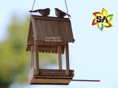DIY Bird Feeder using Popsicle Sticks | How to make a Bird Feeder