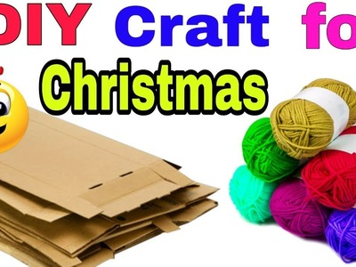 DIY:Christmas Room Decor| how to make christmas tree with cardboard & wool |DIY christmas tree