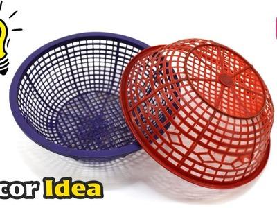 DIY Craft : Jhumar.Chandelier from Waste Basket | Living Room Decor Idea