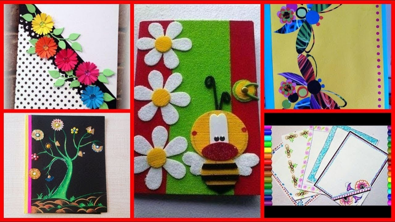 Diy Decoration Ideas For Registers Project Files Notebooks Cover Page