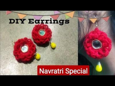 DIY-Earrings    handmade Navratri.Garba Special Jewellery   How to make Navratri Jewellery.Ornaments