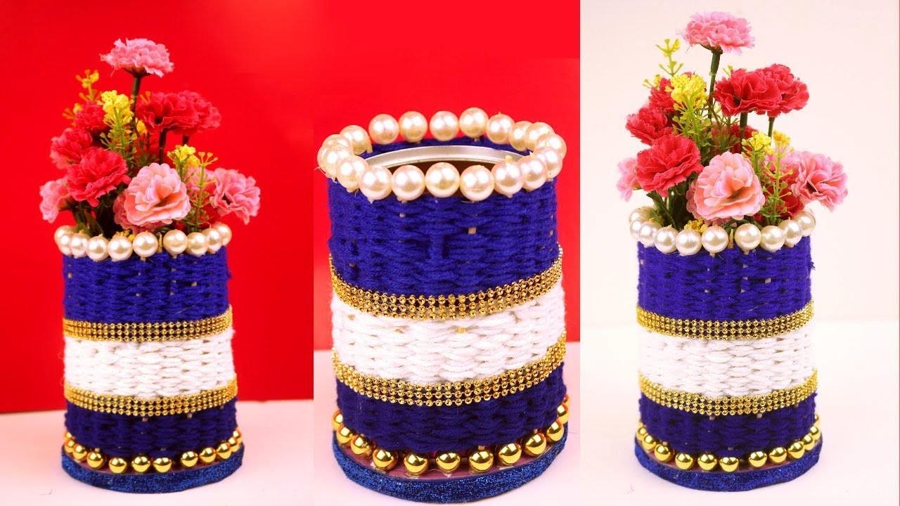 Diy Handmade Flower Vase Craft Idea At Home Best Out Of Waste