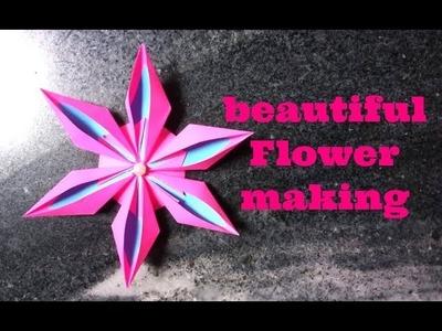 Easy paper Flower Making DIY