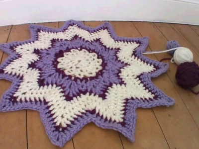 Finger Crocheted Star Rug Tutorial (A Bit Like Arm Knitting, but With Fingeers!)