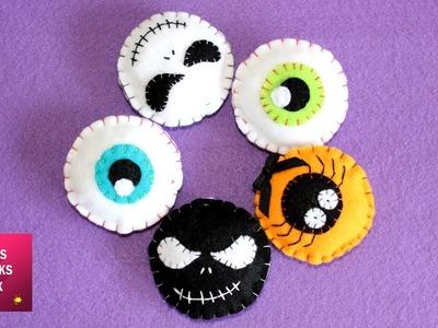 Halloween Felt Ornaments - DIY: How to make easy Halloween Felt Ornaments. Halloween Crafts Part#2