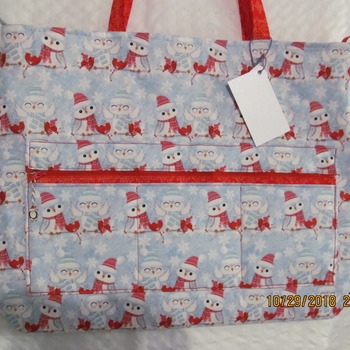 Hand made Durable Penguin  Tote Bag
