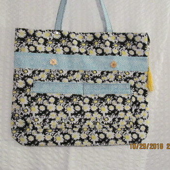 Hand made sunflower Toto bag