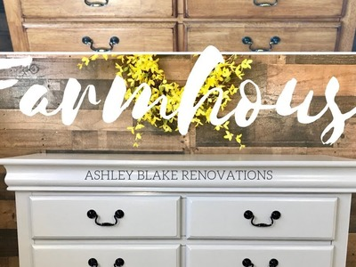 How to Farmhouse Dresser Makeover!