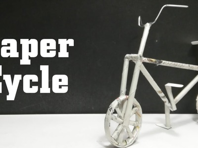 How to make a Cycle From News Paper | easy & simple | 360 DIY