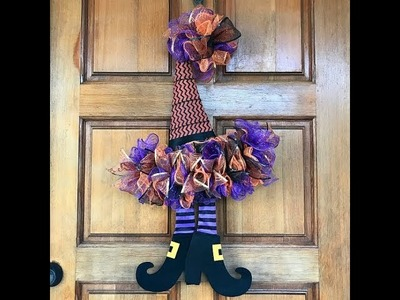 How To Make A Witch Hat Wreath with Dollar Store Supplies