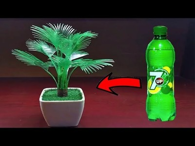 How to make artificial tree with plastic bottle_Plastic bottle craft_Plastic bottle artificial tree