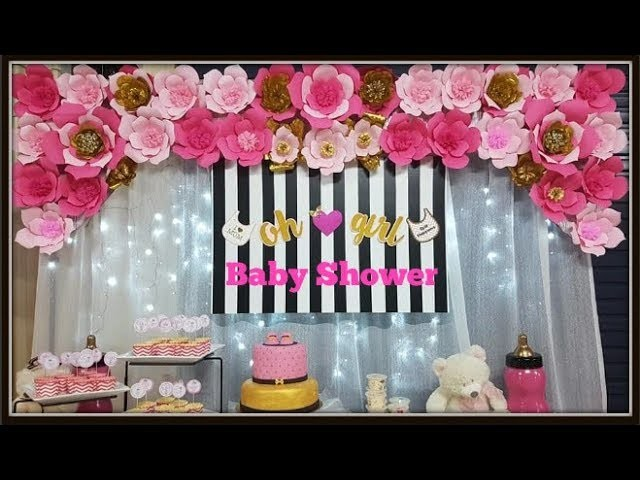 How to Make Flower Backdrop for Baby Shower