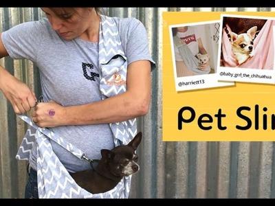 How to wear :Furry Fido Adjustable Pet Sling