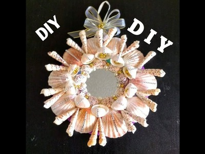#IAM Acreator||DIY||   DOLLAR TREE||sea shell Wreath||