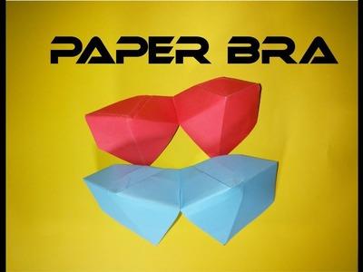 Paper bra - how to make paper colourful bra - origami #bra