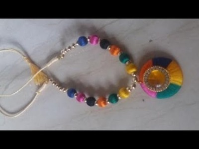 Silk thread multicolor necklace.full necklace making.DIY necklace making