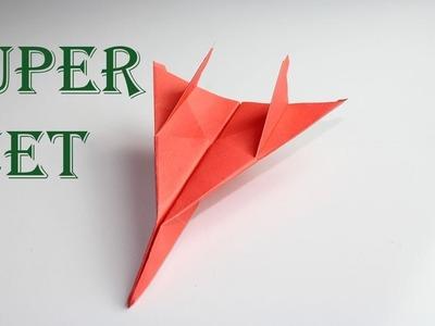 Super Jet Aeroface Airplane  2018-How To Make Fighter Jet Paper Airplane -  Origami Fighter Jet