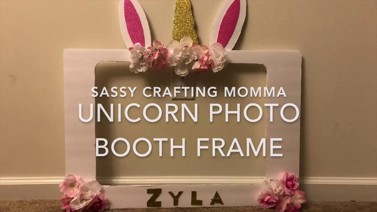 Unicorn Photo Booth Frame Diy