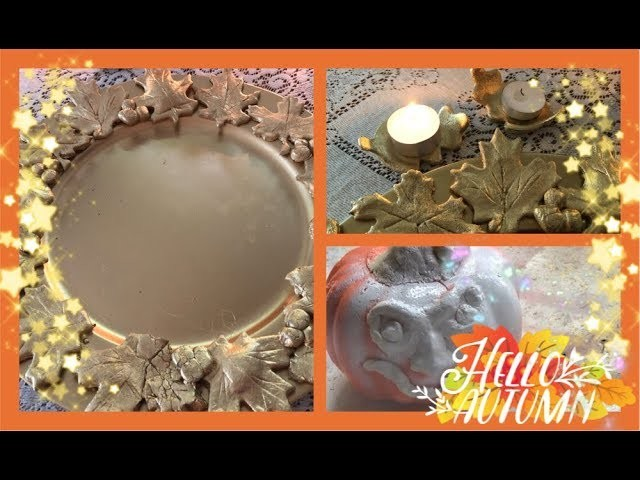 ~3  FALL DIY's - Fall Room Decor - Pier 1  Dupe Fall Charger ~