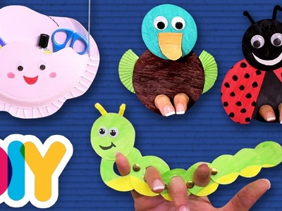 4 Amazing PAPER PLATE CRAFTS you can do with your kid | Fast-n-Easy | DIY Arts & Crafts