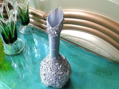 Best out of waste plastic bottle flower vase, DIY flower port