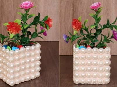 Best Out of Waste Using Pizza Box || DIY Flower Pot. Vase Making at Home || Handmade Craft Idea