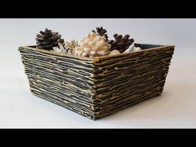 D.I.Y Textured  Potpourri Bowl Mixed Media Home Decor #StudioSilverCreek
