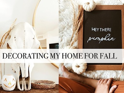 Decorating My Home For Fall - thrifted items & DIY's