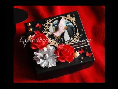 DIY 3 Layered Anniversary Explosion Box | Explosion Box Ideas | Photo Album | Handmade Gift