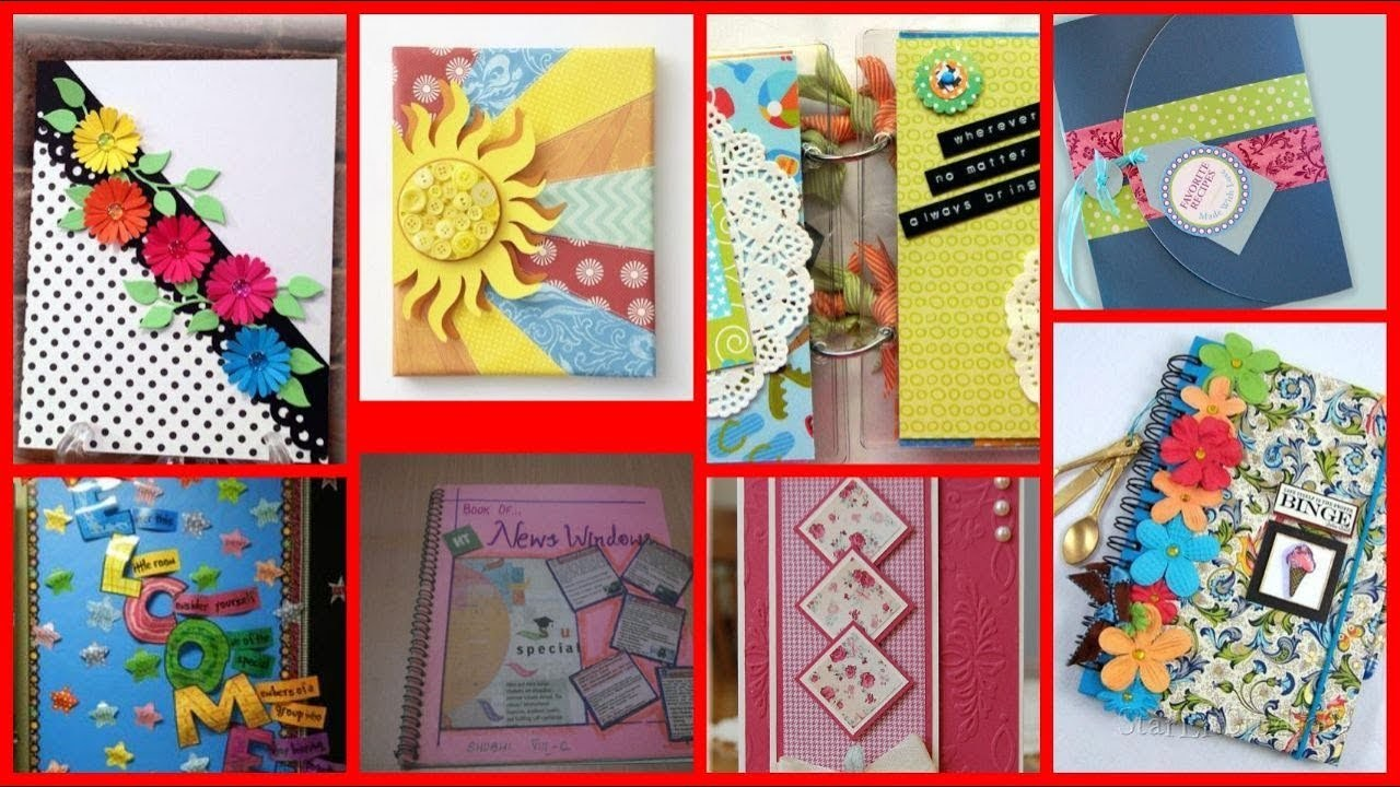 Diy Beautiful Decoration Ideas For Notebook Project Files Registers
