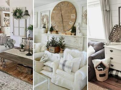 ❤DIY Chic style Modern Farmhouse Living room decor Ideas❤ | Home decor Ideas| Flamingo Mango