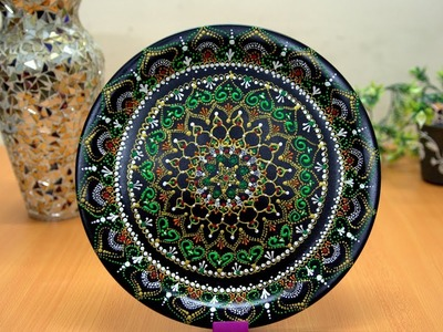 DIY  Diwali Decorative Plates by Reusing Plates  ||  Mandala Art || Diwali Decoration Art
