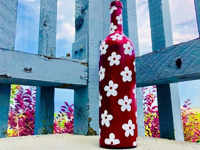 DIY glass bottle decoration. DIY. wealth out of waste. creative corner. poojitha reddy