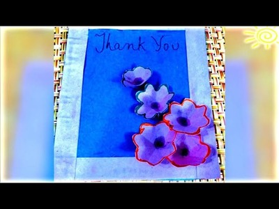 DIY greeting card simple step by step video| by non stop kanak| diy thank you card