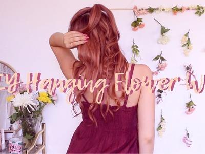 DIY Hanging Flower Wall